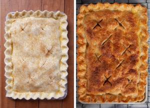 Bake pie until golden brown.