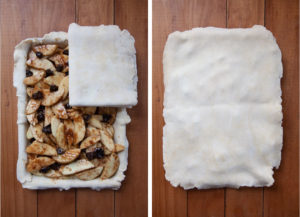Cover pie with top crust.