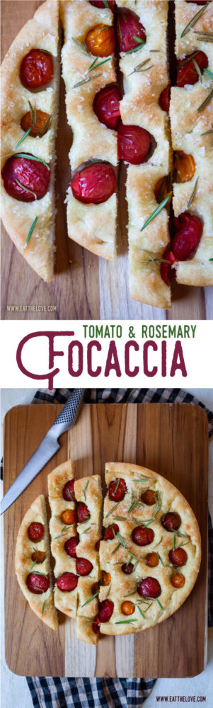 This easy-to-make tomato and rosemary foccacia uses a boiled potato to give the bread dough extra moisture and sweetness. #focaccia #pizza #recipe #yeast #italian #tomato #rosemary