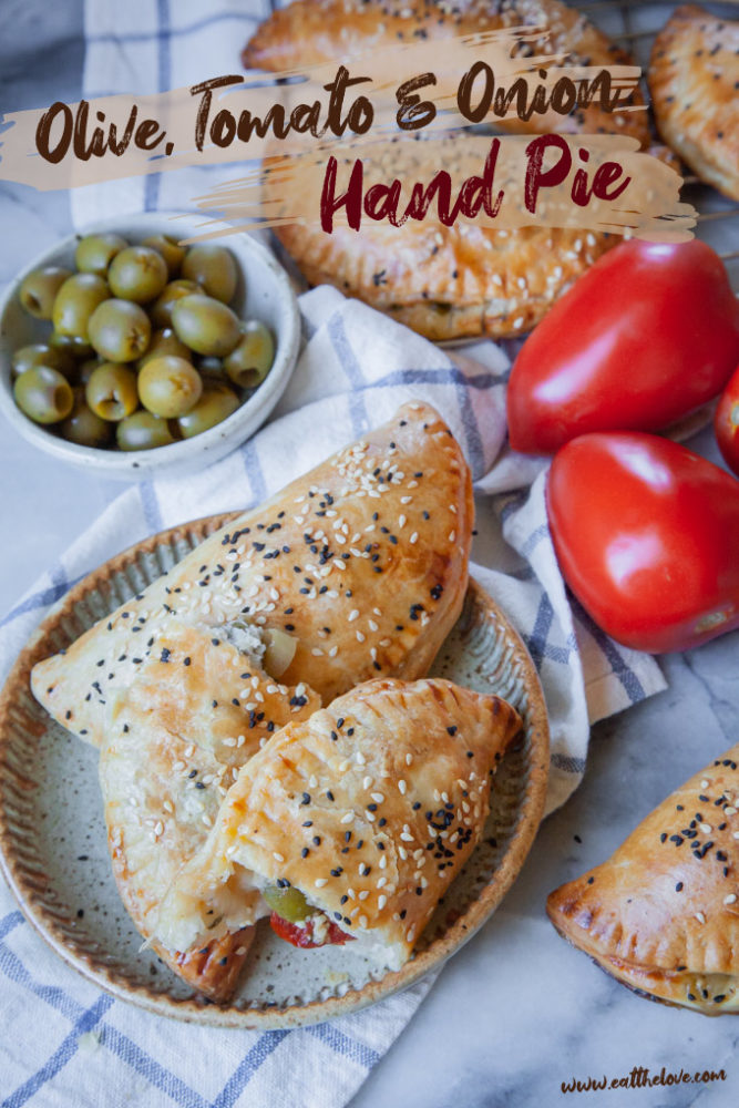 Olive, Tomato, and Onion Hand Pies [Sponsored Post]